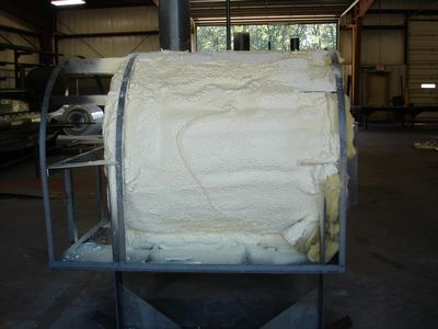 Wood Furnace - Spray Foam