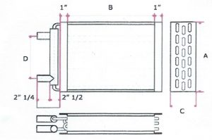 water to heat exchange coil diagram